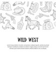 wild west banner template with place for text vector image
