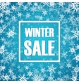 winter sale inscription on background vector image