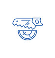 wood saw line icon concept wood saw flat vector image vector image