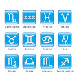zodiac stylized sign horoscope icon logo button vector image