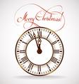 Christmas time clock vector image