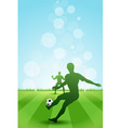 Soccer Background with two Players vector image