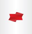 red ribbon design element vector image