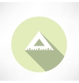 Rulers triangular icon vector image