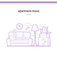apartment move line vector image vector image