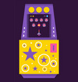arcade game machine with alien monsters vector image vector image