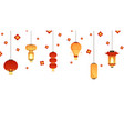 asian lanterns banner chinese new year festival vector image vector image