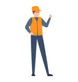 attendant in subway icon cartoon style