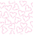 Background with hearts made of flowers vector image