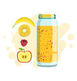 banana pineapple and raspberry smoothie non vector image vector image