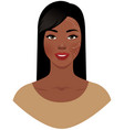 beautiful african american woman with marks drawn vector image vector image