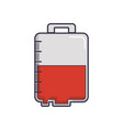 blood bag icon vector image vector image