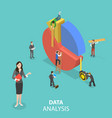 business statistics and analytics flat isometric vector image vector image