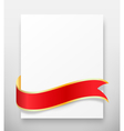 celebration paper greet card with red festive vector image vector image