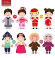 children world japan china korea and vector image vector image