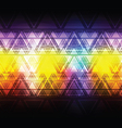 colorful abstract triangle background vector image