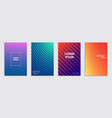 colorful halftone gradients geometric patterns vector image