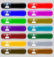 Conical Flask icon sign Set from fourteen vector image vector image