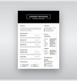 cv resume clean design template curriculum vector image