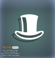 cylinder hat icon symbol on the blue-green vector image vector image