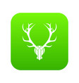 deer antler icon digital green vector image vector image
