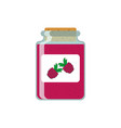 drawing jars of raspberry jam on vector image vector image