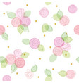 floral seamless pattern with glitter polka dots vector image