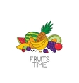 fruits time logo vector image vector image