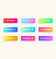 gradient buttons user interface web button vector image vector image