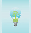 green tree bulb vector image