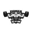 gym monochrome logo emblem vector image vector image