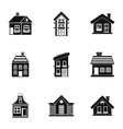 Habitation icons set simple style vector image vector image