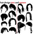 hair design vector image vector image