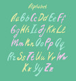 hand drawn color alphabet vector image