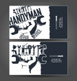 handyman business card design vector image vector image