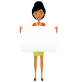 happy african american business woman holding sign vector image vector image