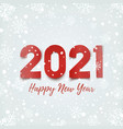 happy new year 2021 design on winter background vector image