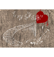 heart and stairs vector image vector image