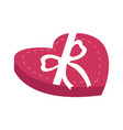 heart shaped chocolate box vector image