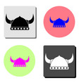 helmet with horn flat icon vector image