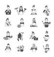 Housewife Black Set vector image vector image