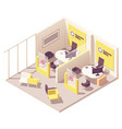 isometric customer service department vector image vector image