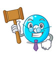 judge number zero isolated on the mascot vector image vector image