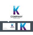 letter k - logo design vector image vector image