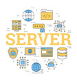 linear concept of server storage vector image
