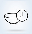 meal time icon lunch dinner breakfast time icon vector image vector image