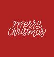 merry christmas calligraphic line art typography vector image vector image