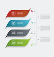 minimal timeline or option line design vector image vector image