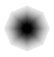 Octagon halftone geometric shapes Dot