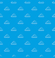 one cloud pattern seamless blue vector image vector image